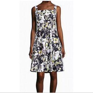 ISAAC MIZRAHI IMNYC Navy Floral Dress Size L